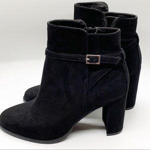 NWT Banana Republic Black Suede Ankle Booties 7